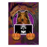 Halloween - Just a Lil Spooky - Collie - Natalie Greeting Card