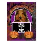 Halloween - Just a Lil Spooky - Collie - Natalie Postcard