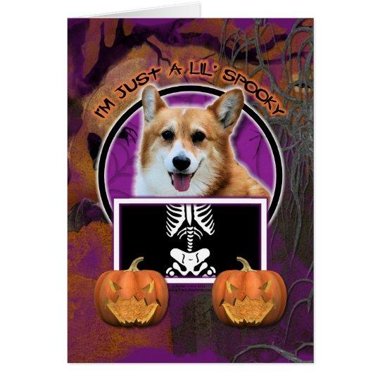 Halloween - Just a Lil Spooky - Corgi - Owen Card