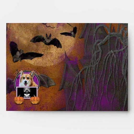 Halloween - Just a Lil Spooky - Corgi - Owen Envelopes