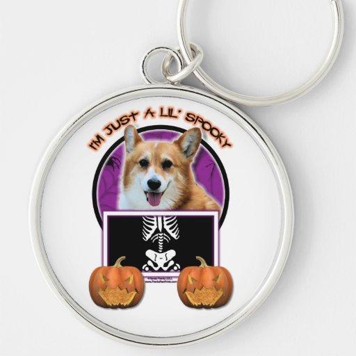 Halloween - Just a Lil Spooky - Corgi - Owen Key Chains