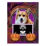 Halloween - Just a Lil Spooky - Corgi - Owen Postcard