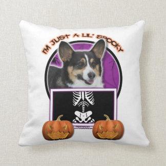 Halloween - Just a Lil Spooky - Corgi Throw Pillow