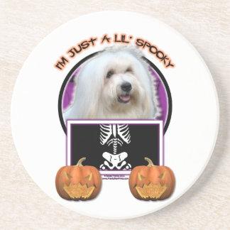 Halloween - Just a Lil Spooky - Coton de Tulear Beverage Coaster