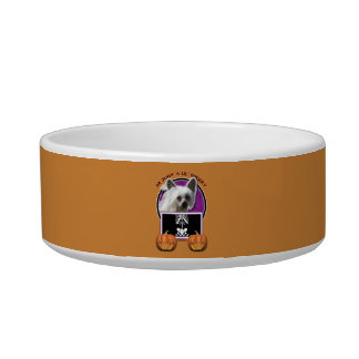 Halloween - Just a Lil Spooky - Crestie - Kahlo Cat Water Bowl