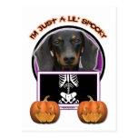 Halloween - Just a Lil Spooky - Dachshund -Winston Postcard