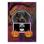 Halloween - Just a Lil Spooky - Doxie - Winston Greeting Card