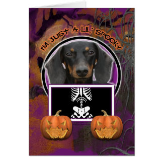 Halloween - Just a Lil Spooky - Doxie - Winston Card