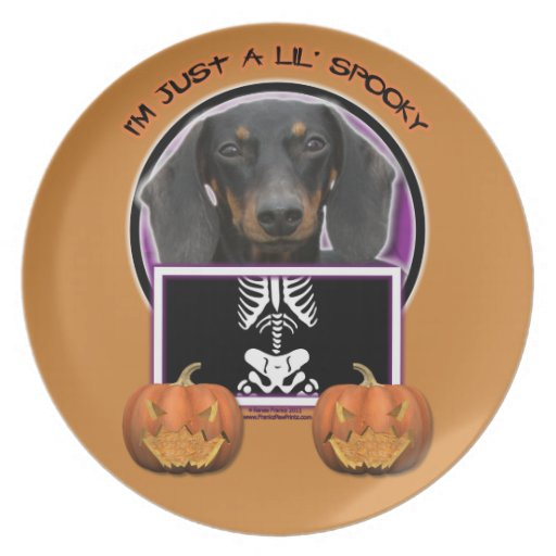 Halloween - Just a Lil Spooky - Doxie - Winston Party Plates