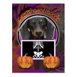 Halloween - Just a Lil Spooky - Doxie - Winston Postcard