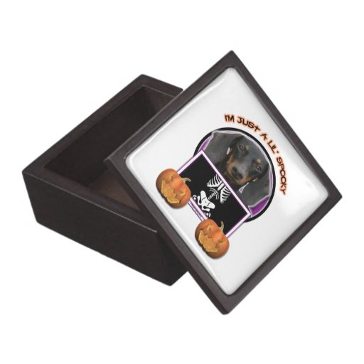 Halloween - Just a Lil Spooky - Doxie - Winston Premium Jewelry Boxes