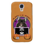 Halloween - Just a Lil Spooky -French Bulldog Teal Galaxy S4 Cover