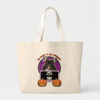 Halloween - Just a Lil Spooky - Frenchie - Teal Tote Bag