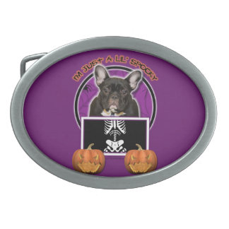 Halloween - Just a Lil Spooky - Frenchie - Teal Belt Buckles