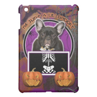 Halloween - Just a Lil Spooky - Frenchie - Teal iPad Mini Cover