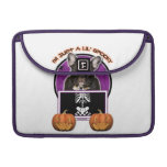 Halloween - Just a Lil Spooky - Frenchie - Teal MacBook Pro Sleeve