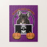 Halloween - Just a Lil Spooky - Frenchie - Teal Puzzle