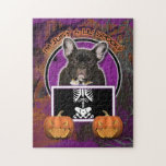 Halloween - Just a Lil Spooky - Frenchie - Teal Puzzles