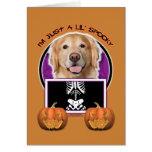 Halloween - Just a Lil Spooky - Golden Retriever Card