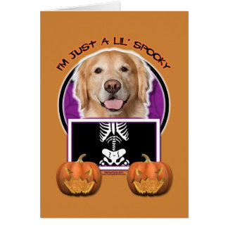 Halloween - Just a Lil Spooky - Golden Retriever Card