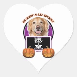 Halloween - Just a Lil Spooky - Golden Retriever Heart Sticker