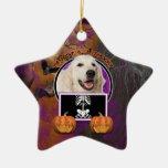 Halloween - Just a Lil Spooky - Golden Retriever Ornament