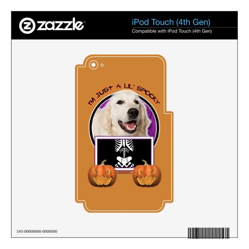 Halloween - Just a Lil Spooky - Golden Retriever Skin For iPod Touch 4G