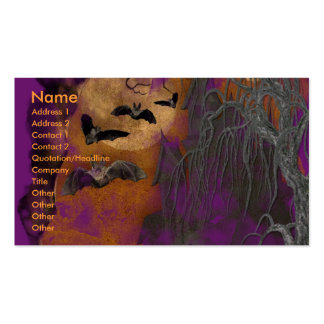 Halloween - Just a Lil Spooky - GoldenDoodle Business Card Templates