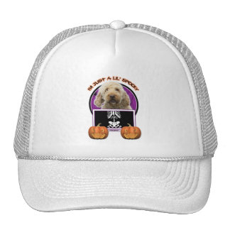 Halloween - Just a Lil Spooky - GoldenDoodle Trucker Hat
