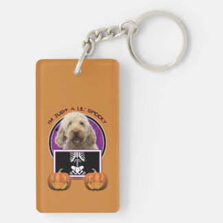 Halloween - Just a Lil Spooky - GoldenDoodle Acrylic Keychain