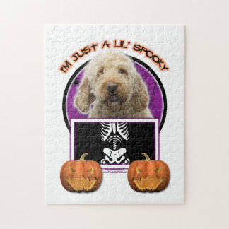 Halloween - Just a Lil Spooky - GoldenDoodle Puzzle
