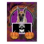 Halloween - Just a Lil Spooky - Great Dane Postcard