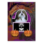 Halloween - Just a Lil Spooky - Havanese Greeting Card