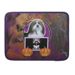 Halloween - Just a Lil Spooky - Havanese Sleeves For MacBooks