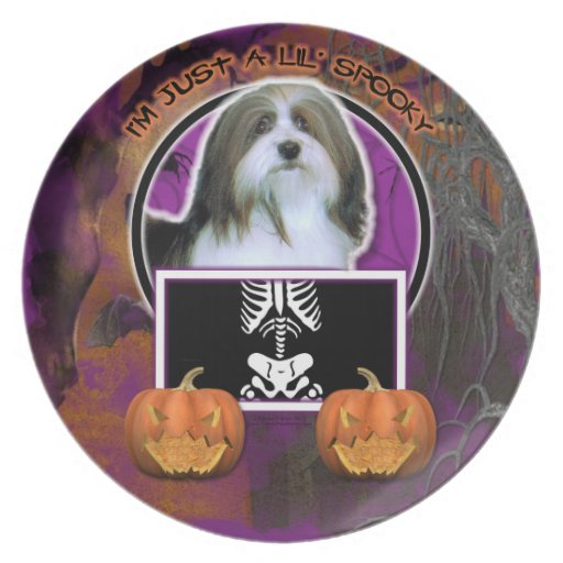 Halloween - Just a Lil Spooky - Havanese Party Plate