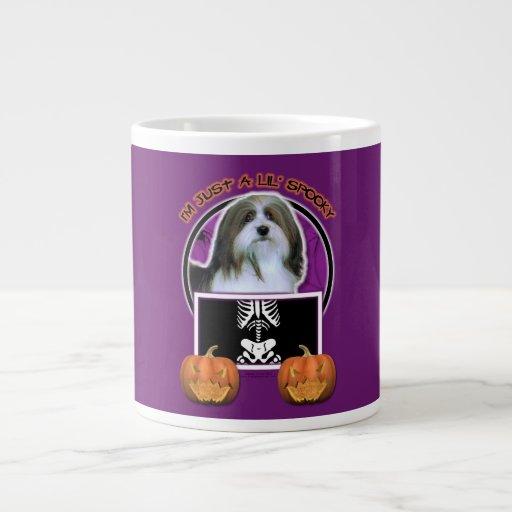 Halloween - Just a Lil Spooky - Havanese 20 Oz Large Ceramic Coffee Mug