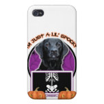 Halloween - Just a Lil Spooky -Labrador Black Gage iPhone 4 Case