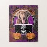 Halloween - Just a Lil Spooky - Labrador - Chocola Puzzle