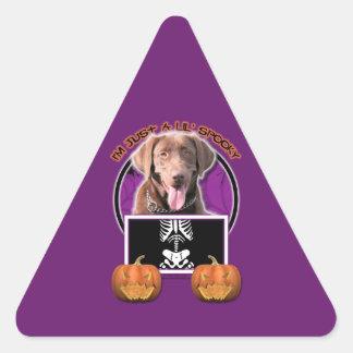 Halloween - Just a Lil Spooky - Labrador Chocolate Sticker