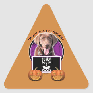 Halloween - Just a Lil Spooky - Labrador Chocolate Stickers
