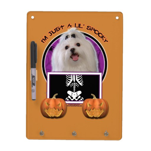 Halloween - Just a Lil Spooky - Maltese Dry Erase Whiteboard