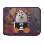 Halloween - Just a Lil Spooky - Maltese Sleeves For MacBooks