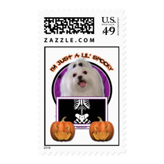 Halloween - Just a Lil Spooky - Maltese Stamps