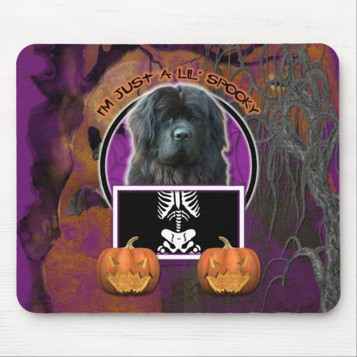 Halloween - Just a Lil Spooky - Newfoundland Mouse Pad