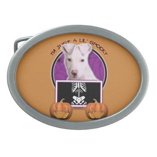 Halloween - Just a Lil Spooky - Pitbull Puppy Belt Buckles