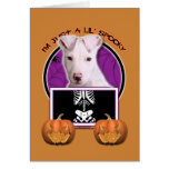 Halloween - Just a Lil Spooky - Pitbull Puppy Greeting Card
