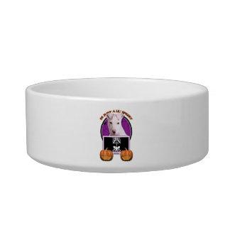 Halloween - Just a Lil Spooky - Pitbull Puppy Cat Bowls