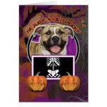 Halloween - Just a Lil Spooky - Pitbull - Tigger Greeting Card