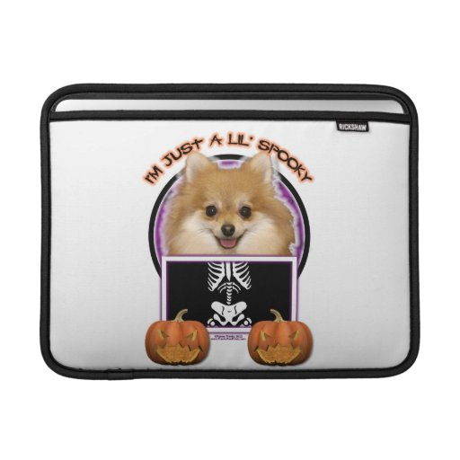 Halloween - Just a Lil Spooky - Pomeranian MacBook Air Sleeves