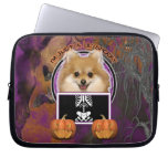 Halloween - Just a Lil Spooky - Pomeranian Computer Sleeves